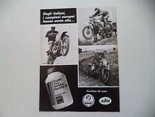 advertising Pubblicità 1977 OLIO MACH e MOTO KTM GRITTI/PUCH e OSVALDO SCABURRI