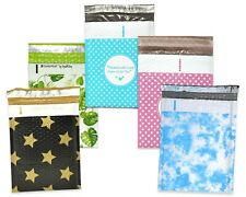 6x10 Tropical Blackgold Star Polka Dots Clouds Poly Bubble Shipping Mailers