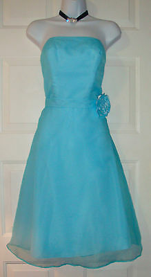 Eden Maids Bridesmaids Collection Light Blue Bridesmaid Dress Size 8