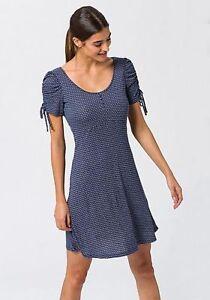 2c2f7d9de21399 Das Bild wird geladen edc-by-Esprit-Feminines-Kleid-mit-Alloverprint-Blau-