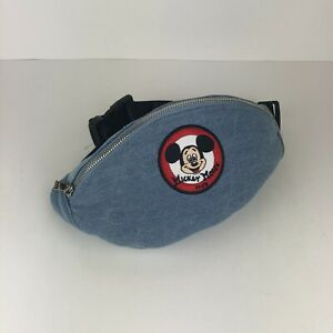 Disney-Mickey-Mouse-Club-Logo-Denim-Travel-Pack-Hip-Waist-Bag-Fanny-Pack-NWT