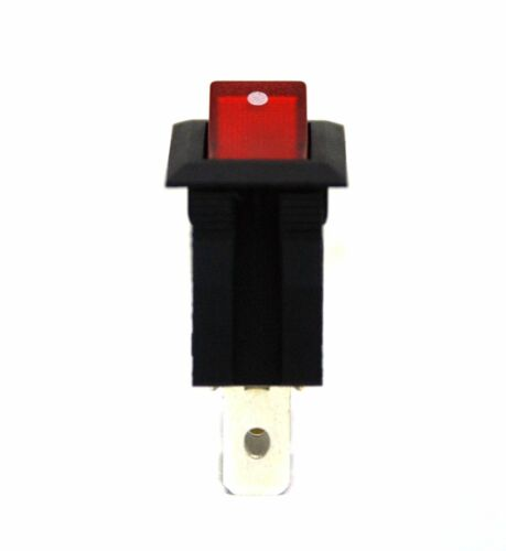 W 3P SPST 15A125V 7.5A250V UL VDE RoHS Red 10pc RLEIL Rocker Switch RL1 RL1-5