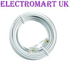 High Speed Bt A Banda Larga Modem Router ADSL rj11 Plug Lead Cavo Bianco 20m
