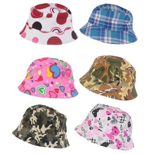 Kid Children Boy Girl 100/% Cotton Summer Beach Bucket Hat Cap