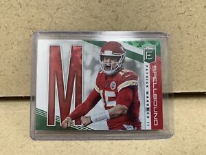 2019-DONRUSS-ELITE-PATRICK-MAHOMES-II-SPELLBOUND-LETTER-2nd-M-GREEN-CHIEFS