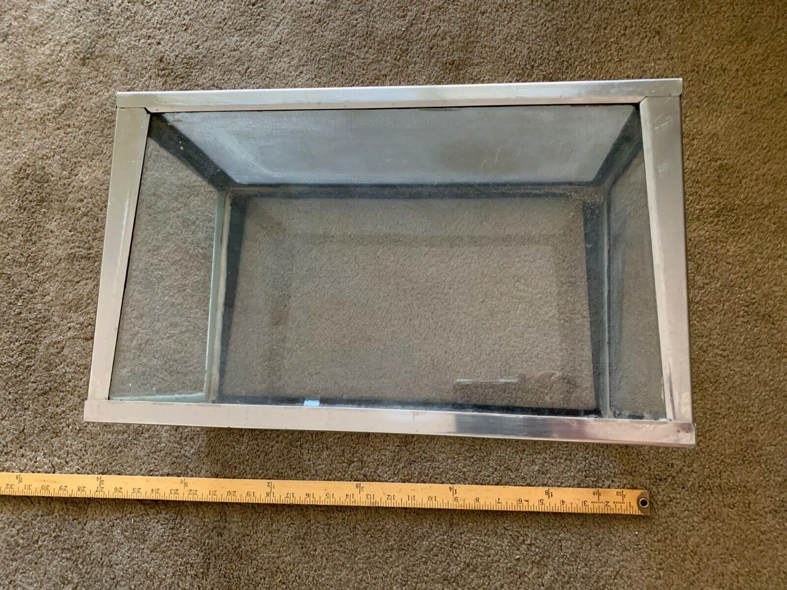 Vintage Metaframe 10 Gallon aquarium  terrarium  20 x 12 x 11
