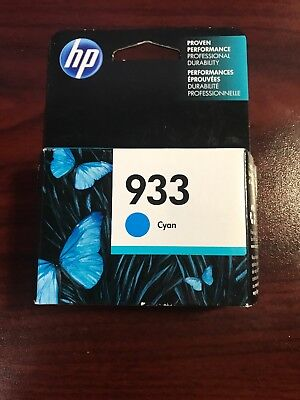 NEW HP #933 Cyan Ink Cartridge GENUINE