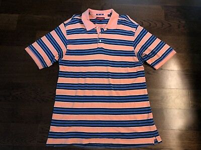 Austin Reed London Men S Multi Color Striped Polo Shirt Size L Ebay