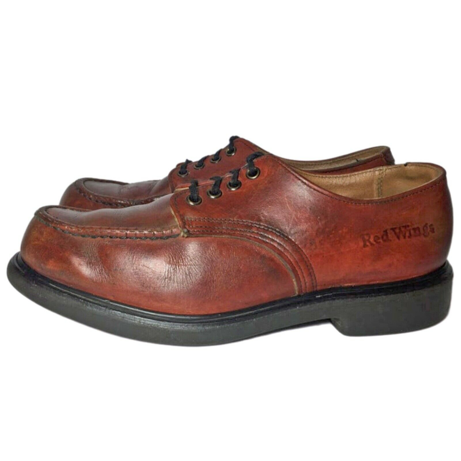 RED WING® Vintage 90's Postman Brown Leather Oxfo… - image 7