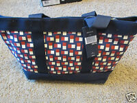 Tommy Hilfiger Large Zip Bag Beach Gym Tote Blue Red Stripes