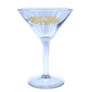 Star-Trek-Rare-Voyager-Series-Vintage-Cocktail-Glass-Collectible-c-1999