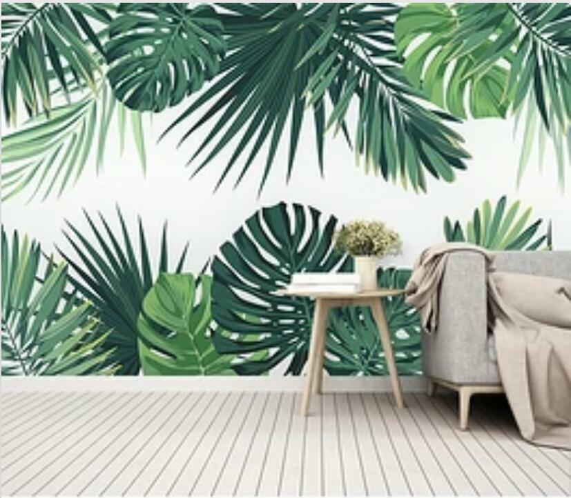3D Grüne Blätter H1874 Tapete Wandbild Selbstklebend Abnehmbare Aufkleber Wend