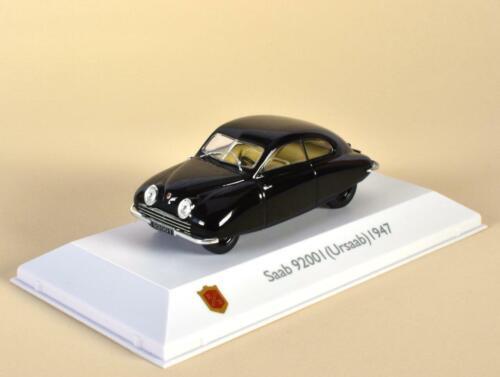 """Saab 92001 Año 1947 Serie /"""" Saab Coche Museo /""""Escala 1:43 de Atlas"""