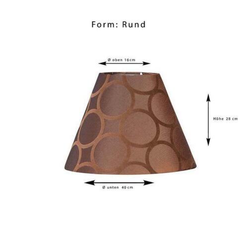Leuchtenschirm Lampenschirm Lampe Freestyle Rund Kreise braun Ø 20 cm bis Ø 45