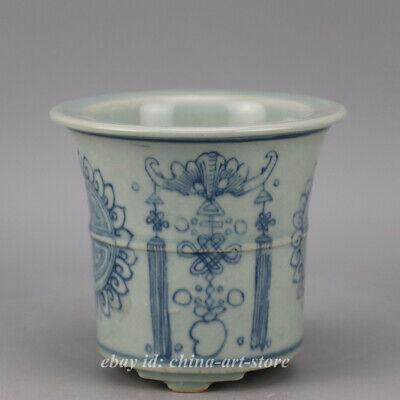 """5.9/"""" Chinese Famille-rose Porcelain Children Kid Boy Pomegranate Tree Flowerpot"""