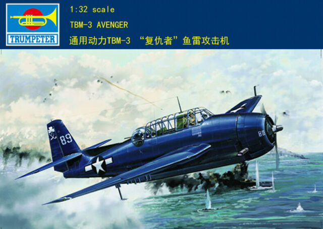 Trumpeter 1//32 Scale Plane US TBM-3 Avenger Bombers Attack Aircraft Model 02234
