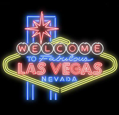 Neon Signs Gift Welcome To Las Vegas Beer Bar Recreation Room Wall Display 32x24 Ebay