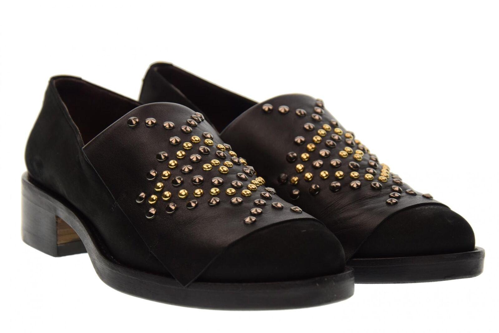 Gio Cellini scarpe donna mocassini U211 NERO A17