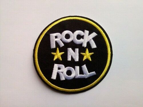 ROCK N ROLL  WOVEN SEW OR IRON ON PATCH