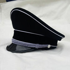 Military WWII WW2 German Elite Officer Hat Officer Cap Black Head Circle 57 cm