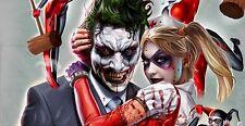 "Harley Quinn & The Joker 7 3/4""x4"" Printed Vinyl Sticker ~ Harley Quinn Nurse"