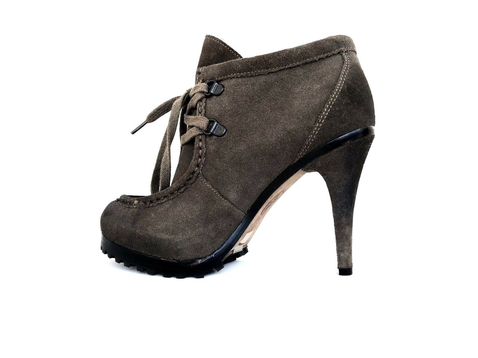 Ash Poppy Heels Suede Leather Lace Up Womens Ankle Booties Size 36  US 6