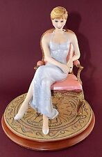 Franklin Mint Princess Diana Porcelain Sitting In Chair (Forever Diana) E1122
