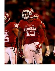 best service 44f7f 538f1 Details about AHMAD THOMAS OKLAHOMA SOONERS SIGNED 8X10 PHOTO W/COA