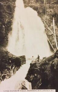 Postcard-Upper-Rainbow-Falls-Harrison-Hot-Springs-B-C-Canada-Vintage-P24
