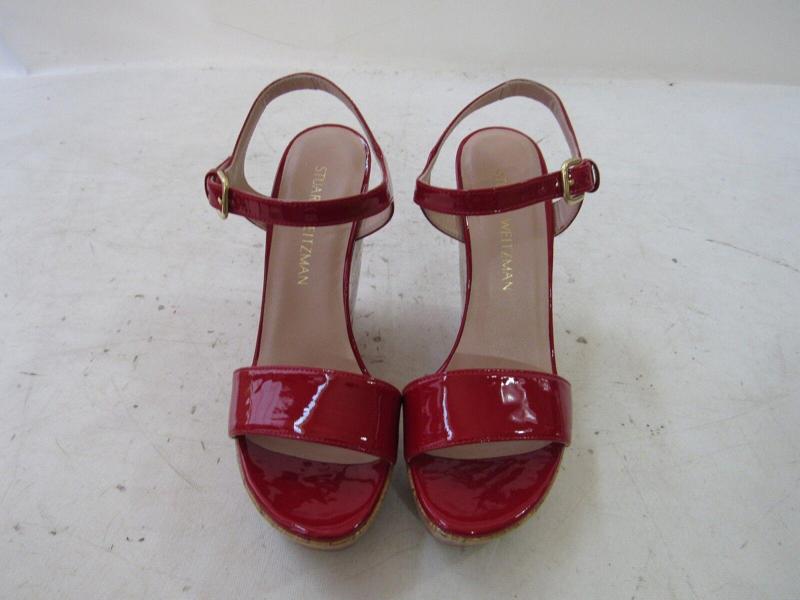 connotazione di lusso low-key STUART WEITZMAN Single Sky Hand Painted rosso rosso rosso Patent Cork Wedge Dimensione 8  incentivi promozionali