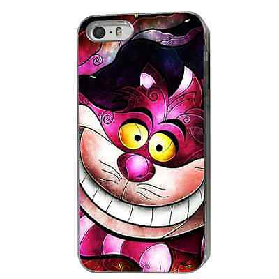 CHESHIRE CAT ALICE PHONE CASE HARD COVER (FITS IPHONE MODELS) PINK