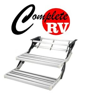 DOUBLE-ALUMINIUM-PULL-OUT-CARAVAN-STEP-FOR-RV-PARTS-ACCESSORIES-STEPS-FAN-MANUAL