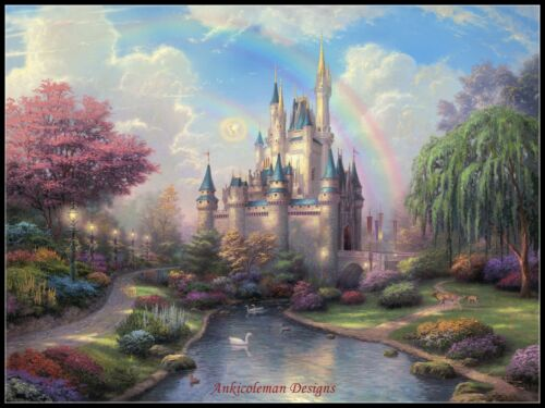 Cinderella Castle Counted Cross Stitch Patterns Chart Needlework Embroidery