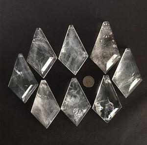 Rock Crystal Quartz Chandelier Pendants Parts Prism Flat Kite - Quartz chandelier crystals