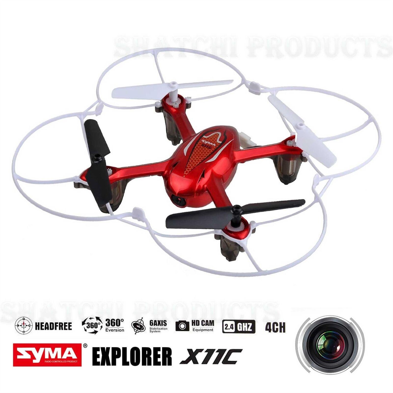 SYMA Drone Quadcopter X11C ARIA RTF MINI 2.4G 4CH 6Axis 2MP fotocamera 360   LED ROSSO