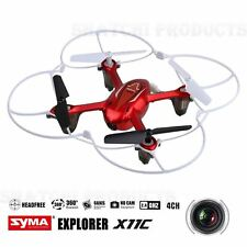 SYMA Drone Mini Quadcopter RC Helicopter X11C  4CH 6Axis 2MP Camera LED 360° RED