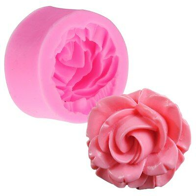 3D Rose Flower Silicone Cake Mold Fondant Chocolate Cutter Mould Decorating Tool