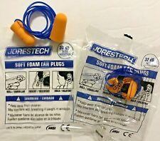 Jorestech Safety Soft Foam Ear Plugs Orange Corded 20 Pairs