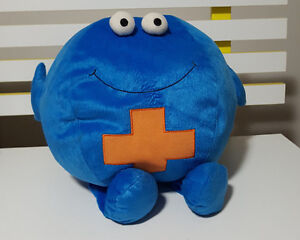 INNER HEALTH PLUS PLUSH TOY SOFT TOY GOOD BACTERIA   GERM THING FROM ... 381d288ca