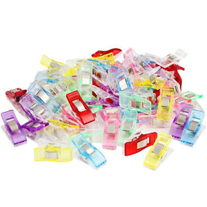 ALS-50-100Pcs-Clover-Wonder-Clips-for-Crafts-Quilting-Sewing-Knitting-Crochet-M