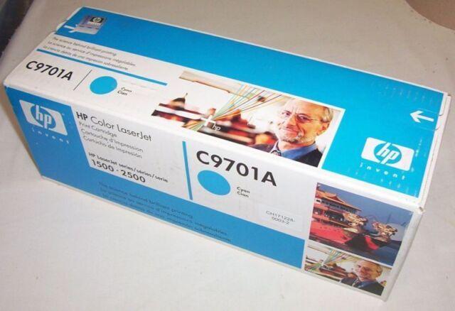 HP genuine C9701A cyan toner for LaserJet 1500, 2500 series
