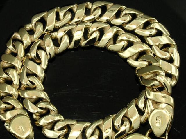 B066- Genuine 9K or 18K SOLID Gold Figure-8 Curb Link Curblink Bracelet Thick