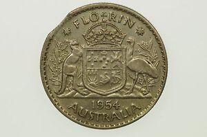1954-Florin-Variety-Error-Bitten-Edge-in-Very-Fine-Condition