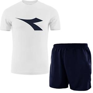T-shirt DIADORA + Shorts GIROGAMA Completo Sportivo Uomo Tuta 2 Pezzi 6957