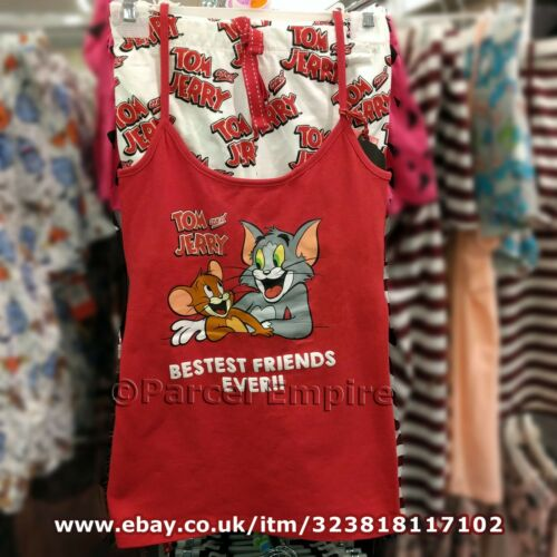 Official TOM /& JERRY CAMI SET Vest Shorts PJ Pajamas Cartoon Gerry Primark Ben