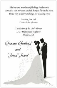 30-50-100-Modern-COUPLE-IN-SILHOUETTE-Any-Color-FONT-WEDDING-Invitation
