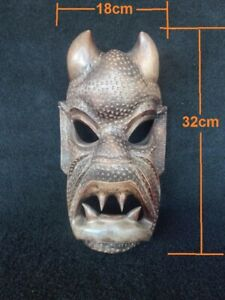Hand-carved-vintage-wood-Headhunters-of-Philippines-tribal-wooden-devil-mask