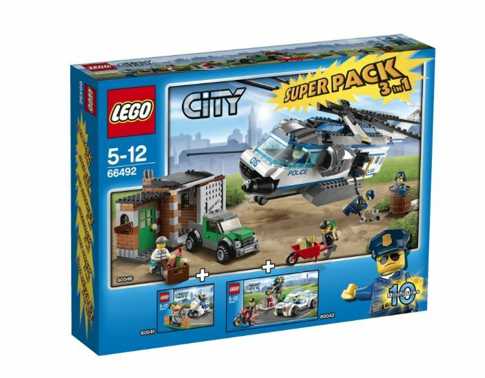 LEGO® City 66492 Polizei Super Pack NEU OVP MISB NRFB (60046+60042+60041)