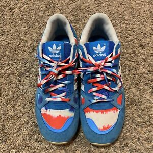adidas ZX 750 shoes white blue red