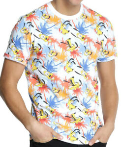 Disney-Pluto-All-Over-Print-Men-039-s-T-Shirt-New